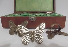 Vintage Brass Butterfly Napkin Rings
