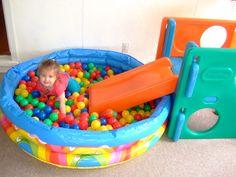 Slide ball pit