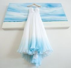 Beach Wedding with an Ombre Wedding Dress by Monica Dart dye wedding dresses blue Beach Wedding with an Ombre Wedding Dress by Monica Dart Ombre Wedding Dress, Pink Wedding Dresses, Beach Dresses, Wedding Gowns, Fall Dresses, Wedding Bridesmaids, Dress Beach, Graduation Dresses, Dresses Dresses