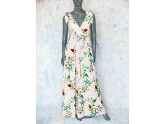 Dlouhé šaty s květy