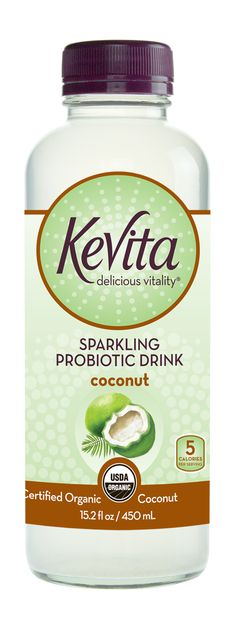 Enjoy the perfectly balanced blend of KeVita Probiotic Culture and coconut water. Certified organic and non-GMO, low calorie, vegan, and dairy free.