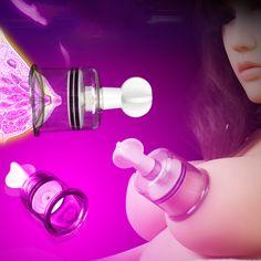 Sale 23% (3.89$) - White Transparent Multi Size Vacuum Sucked Nipple Pump Toys Adult Games