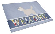 Westie Welcome Glass Cutting Board Large BB8318LCB