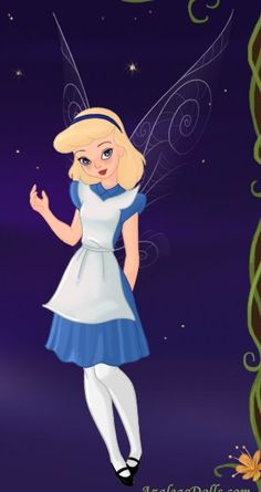 Tink as Alice in Wonderland by LadyAquanine73551.deviantart.com