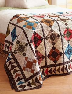 Quilting Ideas All People Quilt. --Love the colors - We know you love the quilt projects that appear in American Patchwork All People Quilt, American Patchwork And Quilting, Flying Geese Quilt, Nine Patch Quilt, Civil War Quilts, Quilt Border, Quilting Designs, Quilting Ideas, Quilt Design