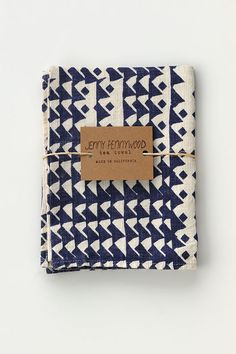Image of Triangles TEA TOWEL - INDIGO