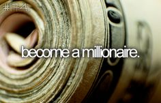 {become a millionaire} why not? have to finance the rest of the list. Girly Things, Things To Do, Simple Things, Girly Stuff, Powerful Money Spells, Spells That Really Work, How To Make Money, How To Become, Become A Millionaire