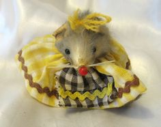 Vintage 1960s Little Mouse Factory Lady Mouse by FourMartiniLunch