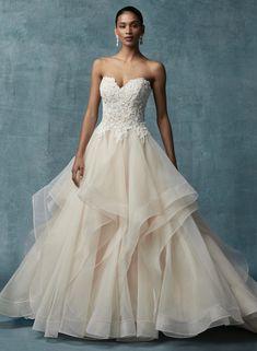 bce82eee8a1 Maggie Sottero Anastasia wedding dress currently in store at Bravura Fashion.  www.bravurafashion.