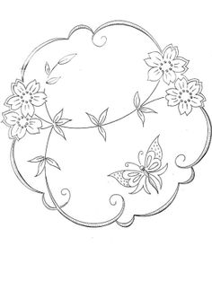 30's style - embroidery pattern