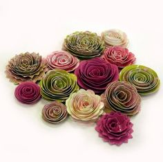 Handmade Spiral Flowers ♥