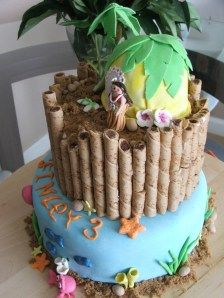 tropical theme party cake! I would LOVE to be able to pull this off! Maybe an easier version of it...
