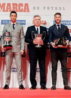 'MARCA' awards winners   February 8, 2016  - Ancelotti: La Liga's best coach of the 2014/15 season - Cristiano: La Liga's top goalscorer of the 2014/15 season - Ramos: received the 'Luis Aragonés' trophy as the best player in Spain NT