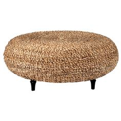 Crafted Home Decorative Millersburg Natural Tan Round Coffee Table (28.365 RUB) ❤ liked on Polyvore featuring home, furniture, tables, accent tables, colored furniture, round furniture, round coffee table, round accent table and woven furniture