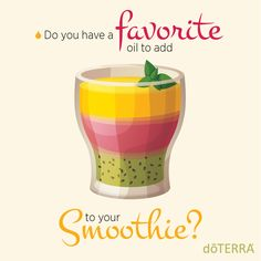 Smoothies and essential oils