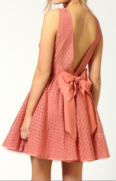 Adorable Bow Back Dress