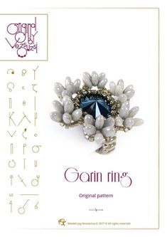 Beading tutorial / pattern Garin ring Beading instruction in PDF – for personal use only Minden, Beading Tutorials, Seed Beads, Jewelery, Thats Not My, Etsy, Illustration, Detail, Pattern