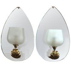 Pair of Mirrored Sconces by Fontana Arte, circa 1935