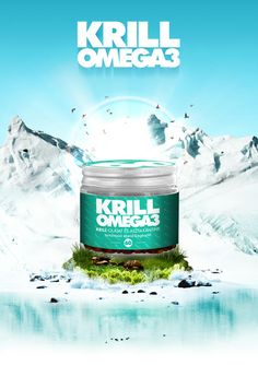 Krill Omega3 on Packaging of the World - designed by Sandor Szalay