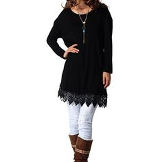 Levaca Womens Tunic Tops Lace Casual Loose Summer T Shirt... https://www.amazon.com/dp/B01NB98Z55/ref=cm_sw_r_pi_dp_x_XXc4ybNSQ427B