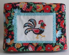 Floral Rooster Toaster Cover  2 Slice Toaster by PatsysPatchwork, $18.00