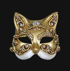 Carta Alta Venetian Masks - Barocco Masks for your Masquerade Ball Party Animal Masquerade Masks, Masquerade Ball Party, Venetian Masquerade Masks, Animal Masks, Kitty Images, Cat Mask, Leather Mask, Full Face Mask, Mask Party