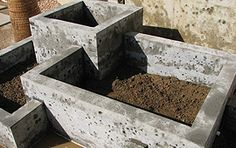 Raised Bed Garden Ideas: Cast Concrete Raised Bed Garden Ideas