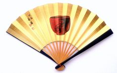 Hand Fan Vintage Japanese Sensu Ogi Tea Bowl by VintageFromJapan, $9.50