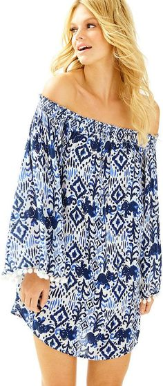 Lilly Pulitzer Nita Off The Shoulder Cover