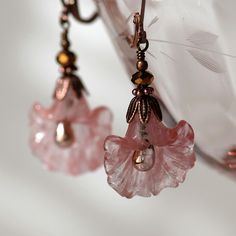 rose quartz and copper from TwoHeartArt on Etsy