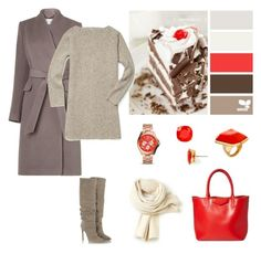 """""""The colours of Black Forrest cake"""" by dezaval ❤ liked on Polyvore featuring L.K.Bennett, Rebecca Minkoff, Givenchy, Lacoste, Kate Spade, FOSSIL and Kenneth Jay Lane"""