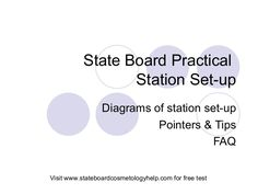 state-board-practical-setup by State Board Cosmetology Help/Hair By Cristine  via Slideshare