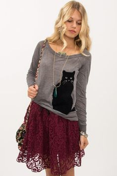Chaser Black Cat Top