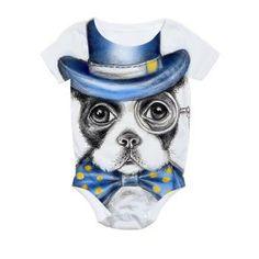 Mr Boston Terrier All Over Print Bodysuit