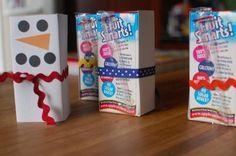snowman juice box