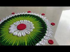 Small, quick and innovative rangoli design - YouTube