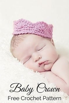 Free Baby Crown Crochet Pattern Free crochet pattern - an adorable baby crown or tiara. By Posh Patterns. Free Baby Crown Crochet Pattern Free crochet pattern - an adorable baby crown or tiara. By Posh Patterns. Crochet Crown Pattern, Crochet Baby Sweater Pattern, Crochet Baby Sweaters, Crochet Baby Hat Patterns, Crochet Bebe, Crochet Baby Hats, Baby Patterns, Free Crochet, Free Pattern