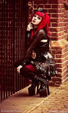 Model: SaphirNoir Photo: © Alexändra Sleäze Photography Welcome to Gothic and Amazing |www.gothicandamazing.org