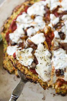 Zucchini Crusted Veggie Delight Pizza | Gluten Free with L.B.