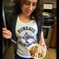 Sundays are for Sundaes Tank Top - Ice Cream Foodie Sweets Dessert Celebration Fun Cool Hipster Foodie Fashion Tank Top - Unisex Sizes XS-2X