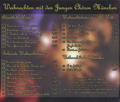 Weihnachten mit den Jungen Chören München |  CD – Weihnachten mit den Jungen Chören München Titelliste