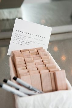15 Creative Wedding Guest Book Sign in Table Ideas creative wedding guest book ideas advice Wedding Favors And Gifts, Wedding Guest Gifts, Wedding Dresses For Guests, Dress Wedding, Wedding Games For Guests, Wedding Shoes, Jenga Guest Book, Guest Book Sign, Guest Books