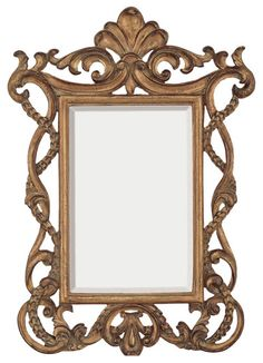 """INFORMATION:  Features:  Frame Material: Polyurethane Brand: Majestic Mirror Wall Mounted French Style Antique Fleur De Lis Design Gold Finish Manufacturer provides 1 year warranty Ships free! Weight and Dimensions:  Overall Dimensions: 33"""" H x 23"""" W Overall Weight: 9 lbs."""