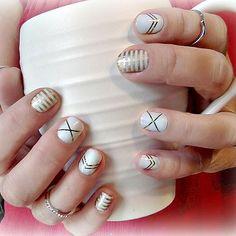 gatsby and metalic gold stripe
