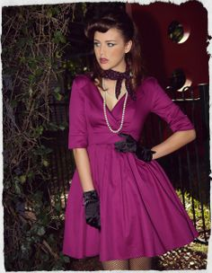 God Save The Kitten Collar Dress (Grape)