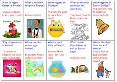 KS2 Easter in France and Spain. What is Easter? An 'information exchange' followed by a quiz.