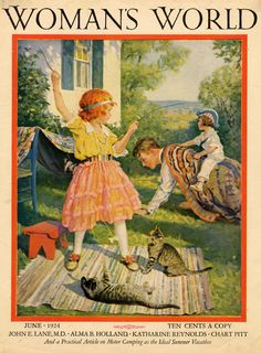 "Cats in Art and Illustration: ""Woman's World"" magazine cover - June 1924"
