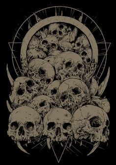 My last t-shirt designs. Dark Artwork, Skull Artwork, Metal Artwork, Gothic Wallpaper, Skull Wallpaper, Arte Horror, Horror Art, Death Art, Satanic Art