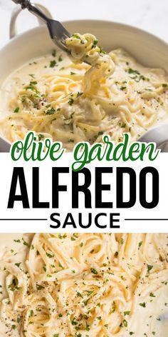 Pasta Alfredo Receta, Sauce Alfredo, Recipe Alfredo, Olive Garden Alfredo Sauce Recipe Easy, Homemade Chicken Alfredo Sauce, Healthy Alfredo Sauce Recipe, Copycat Olive Garden Alfredo, Gastronomia, Recipes