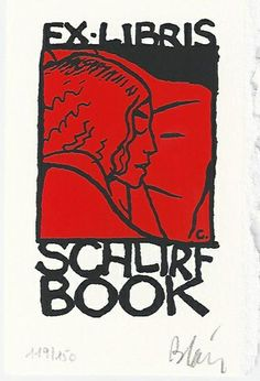 Isaac le pirate - ex-libris Christophe Blain (2001) for Schlirf Book